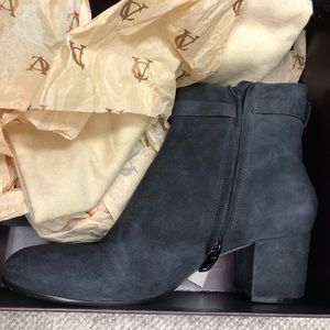 Vince Camuto Signature grey suede booties